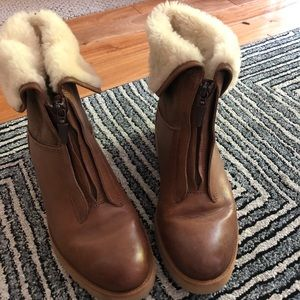 Ugg leather zipper boot